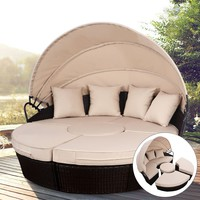 Patio Daybed Set with Canopy