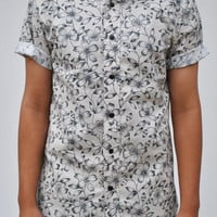 Floral Short Sleeve Button-Up Shirt