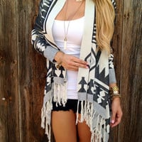 Dakota Fringe Cardigan - FINAL SALE