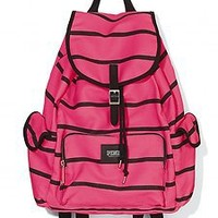 NWT Pink by Victoria Secret Pink and Black striped BACKPACK