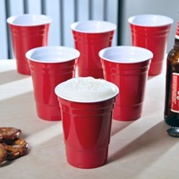 RedNeck Red Party Cup, set of 6