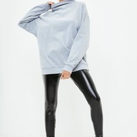 Missguided - Active Gray High Neck Thumb Hole Sweat