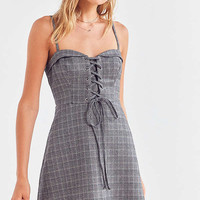 Cooperative Plaid Corset Mini Dress | Urban Outfitters