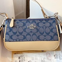 COACH New fashion pattern shoulder bag crossbody bag