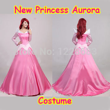 New 2015 Discount Princess Sleeping Beauty Aurora Costume Princess Dresses For Adults Halloween Costumes For Women