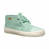 VANS Rhea SF (Square Perf) Gossamer Green Suede Skate Boots Womens Size 9