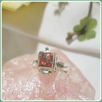 What's Your Poison  Fire Opal Sterling Silver Ring