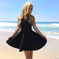 Sadie Little Black Skater Dress