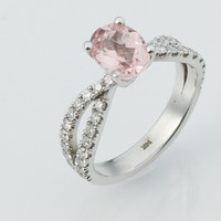 14k White Gold Morganite Ring