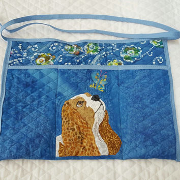 Made to Order Dog Breed Apron for Dog Agility, Dog Obedience, Gardening Apron - Appliqued Quilted