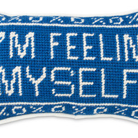 I'm Feelin' Myself Needlepoint Pillow