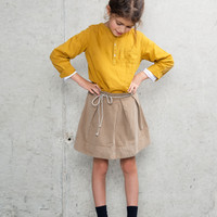 Miller London - Skirt MIMOSA in Mouse - FINAL SALE