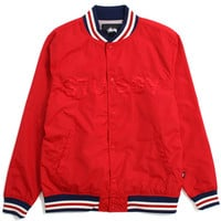 Logo Stadium Jacket Red