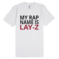 My Rap Name Is Lay-Z-Unisex White T-Shirt