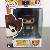 Funko Pop! Vinyl Figure The Walking Dead CARL GRIMES  #97 New W/ Minor Box Wear