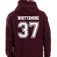 Whittemore 37 White Ink on Back Beacon hills lacrosse Pullover Hoodie
