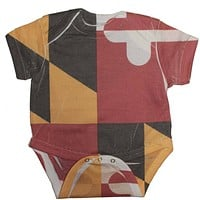 Maryland Flag / Baby Onesuit