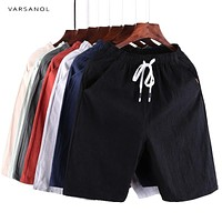 Men Summer Casual Men's Shorts Cotton Bermuda Short Trousers Clothing