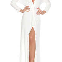 Penelope Evening Gown - White