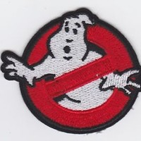 GHOSTBUSTERS EMBROIDERED AND FABRIC IRON ON APPLIQUE PATCH BADGE