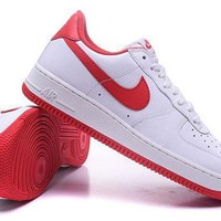 Tagre™ ONETOW Nike Air Force 1 One Classic White / Red Low Running Sport Casual Shoes 845053-100 Sneakers