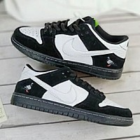 Nike SB Dunk Trending Men Stylish Black White Color Matching Sport Running Shoe Sneakers I-A36H-MY