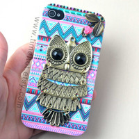OWLleafflowerAztec Tribal iphone caseiphone 44s by timehot on Etsy