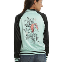 Disney The Little Mermaid Ariel Girls Satin Bomber Jacket