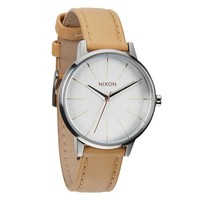 Ladies' Nixon The Kensington Leather Watch In Natural/ Silver