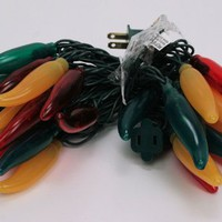 Chili Pepper Lights - Fiesta Lights - Red/Green/Yellow Set of 35