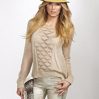 Crochet Pullover Sweater at Guess
