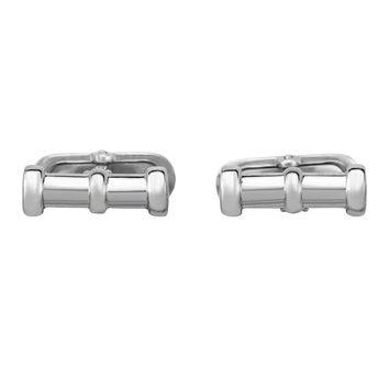 Sterling Silver Tube Cylindrical Cuff Link