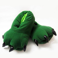 Green Claw Fluffy Shoes