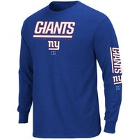 New York Giants Royal Primary Receiver II Long Sleeve T-Shirt