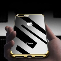 Luxury Transparent Electroplating Protective Phone Case For iPhone X/6/6 Plus/7/7 Plus/8/8 Plus