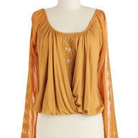 ModCloth Boho Short Length Long Sleeve Love and Sunlight Top