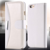 DR.CASE Business Fashion Flip Leather Case For iPhone 7 6 5 5S SE Case Card Slot Wallet Phone Cover For iPhone 7 5 5S 6 6S Plus