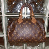 Authentic Vintage Louis Vuitton Monogram Speedy French Co. Handbag Speedy 25