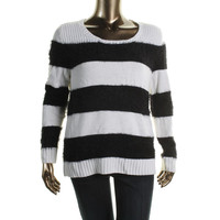 Style & Co. Womens Knit Striped Sweater