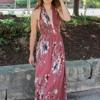 Meadow Muse Maxi Dress - Mauve