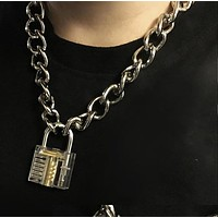 Locked Chain Necklace