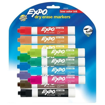 sanford ink corporation dry-erase markers,chisel point,nontoxic,12/pk,assorted Case of 2