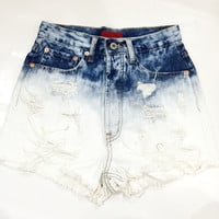 Velencia Distressed High Waisted Shorts