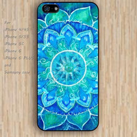 iPhone 5s 6 case colorful pattern mandala blue phone case iphone case,ipod case,samsung galaxy case available plastic rubber case waterproof B303