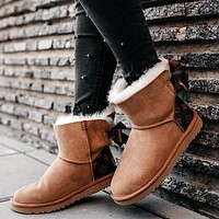 UGG LV bow Boots Shoes adult child