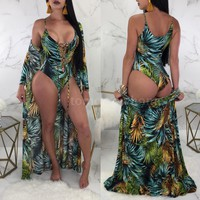 Women Bikini Set With Cover Up - 2 Push Up Swimsuit Bathing Suit Beachwear M2M6