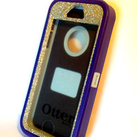 OtterBox Defender Series Case iPhone 5s Glitter Cute Sparkly Bling Defender Series Custom Case purple/white gold