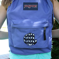 Classic Backpack Appliqued with Circle Monogram