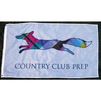 Country Club Prep 3' x 5' Flag in White