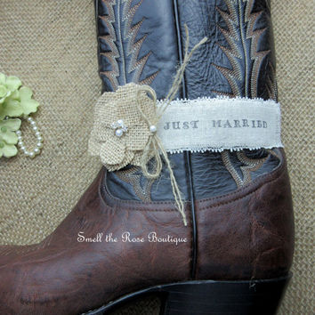 Pick Your Saying,Rustic Country Chic Cowgirl Boot Band,Keepsake Wedding Boot band